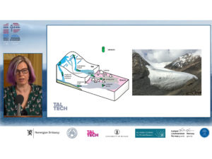 The webinar was moderated by Professor Maarja Kruusmaa, whose joint project MAMMAMIA with the University of Oslo looks at the mechanisms of accelerating land ice loss.