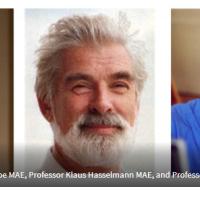 Professor Syukuro Manabe MAE, Professor Klaus Hasselmann MAE, and Professor Giorgio Parisi MAE